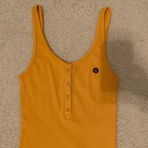 Abercrombie yellow cropped tank